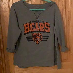 Chicago Bears 3/4 sleeve sweatshirt